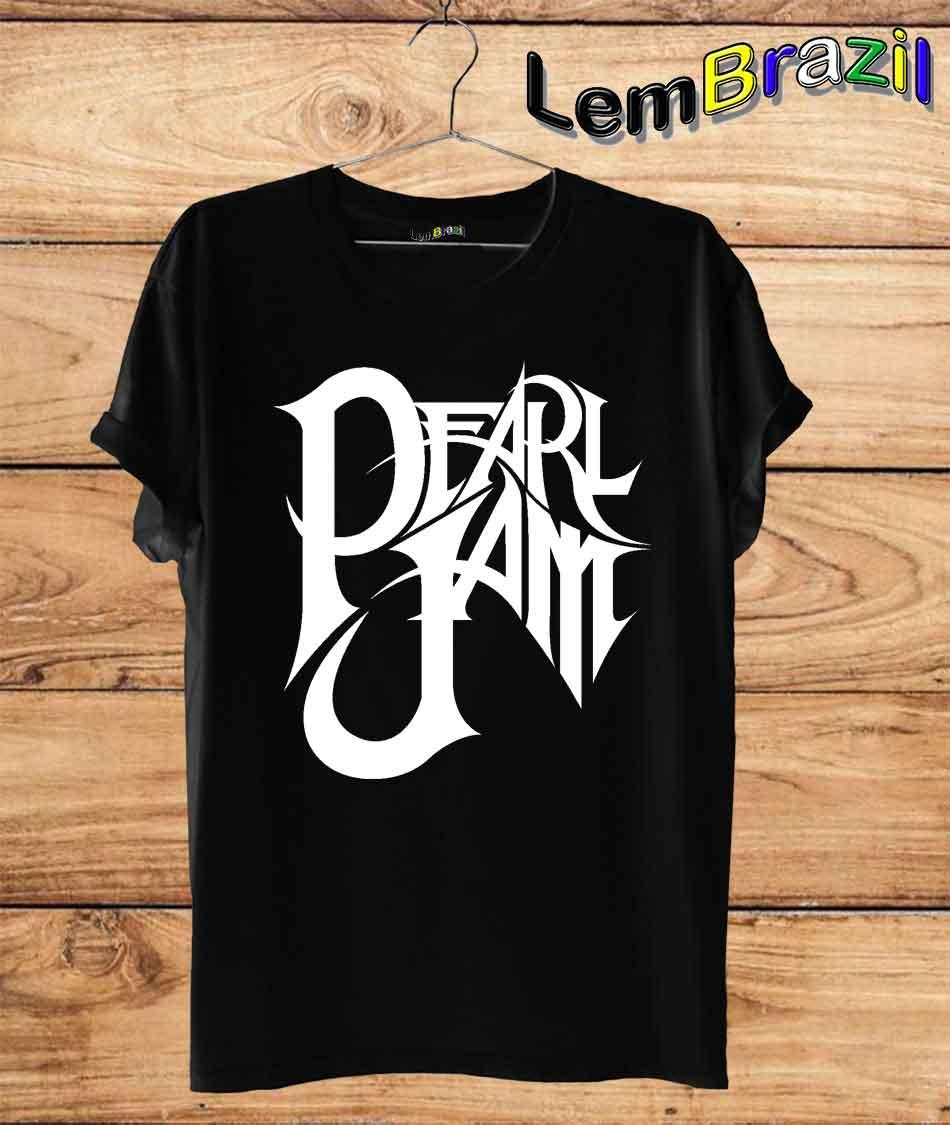 Camiseta Pearl Jam LemBrazil. Camiseta 100% Algodão personalizada com Plotter de Recorte garantindo maior durabilidade e conforto!