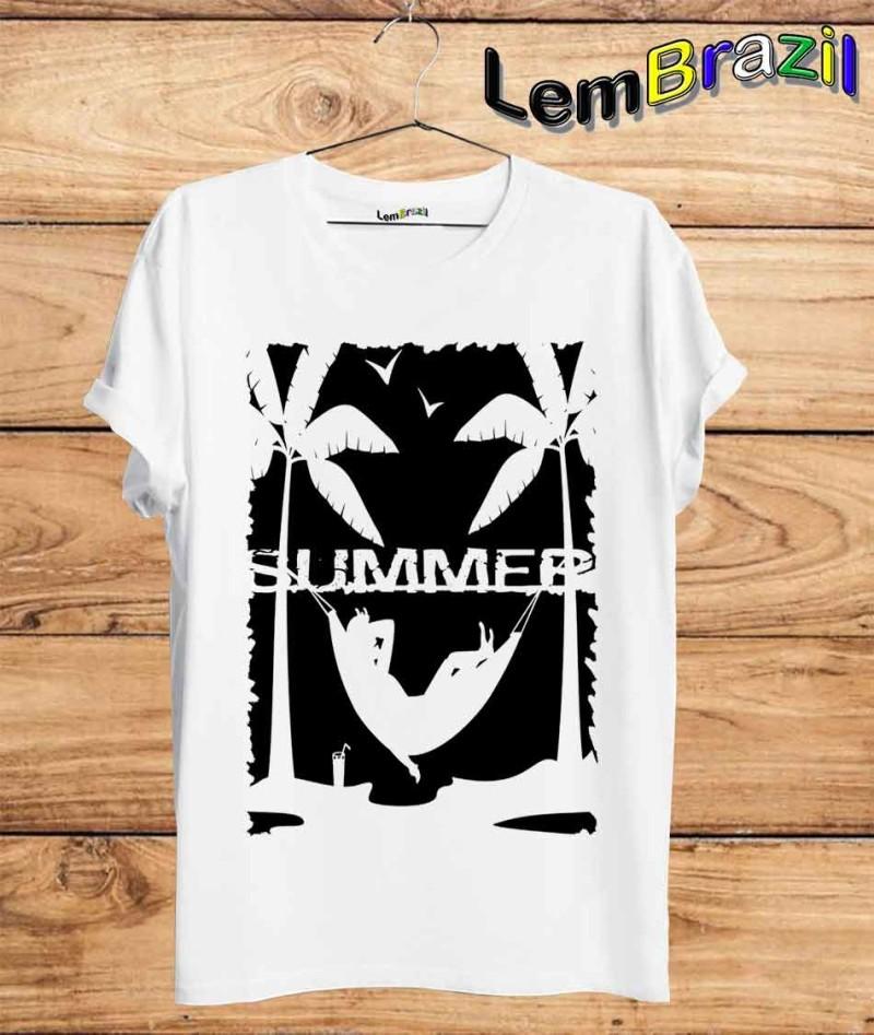 c4d18c1007 Camiseta Summer LemBrazil. Camiseta 100% Algodão personalizada com Impressão  Digital garantindo maior durabilidade e