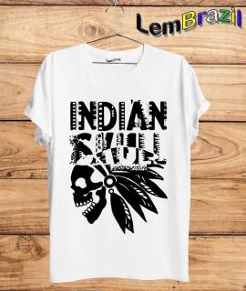 Camiseta Indian Skull LemBrazil. Camiseta 100% Algodão personalizada com Impressão Digital garantindo maior durabilidade e conforto!