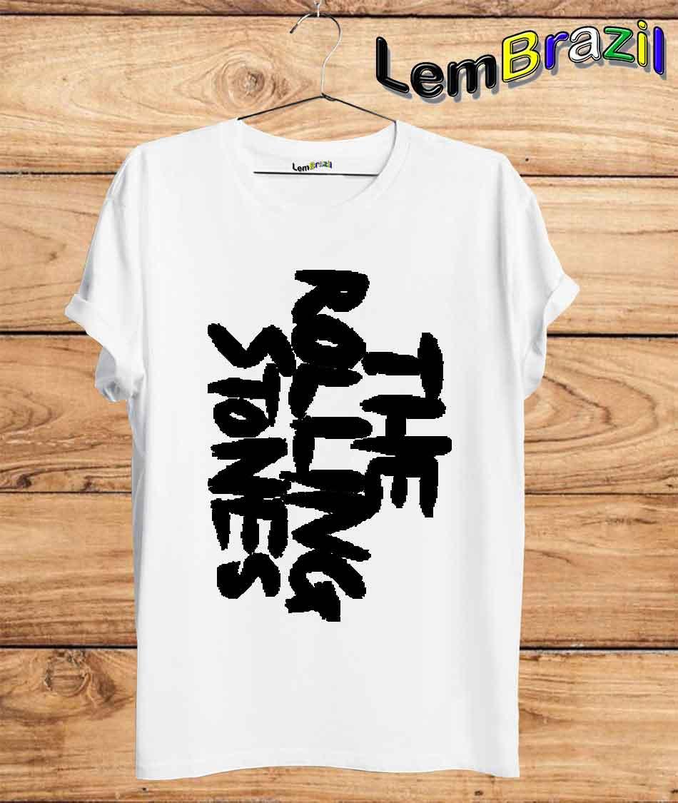 Camiseta The Rolling Stones LemBrazil. Camiseta 100% Algodão personalizada com Plotter de Recorte garantindo maior durabilidade e conforto!