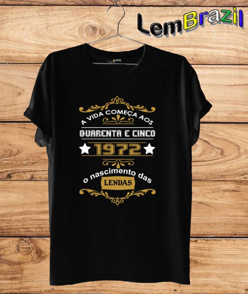 8d74375a0 Camiseta Lendas LemBrazil. Camiseta 100% Algodão personalizada com Impressão  Digital garantindo maior durabilidade e