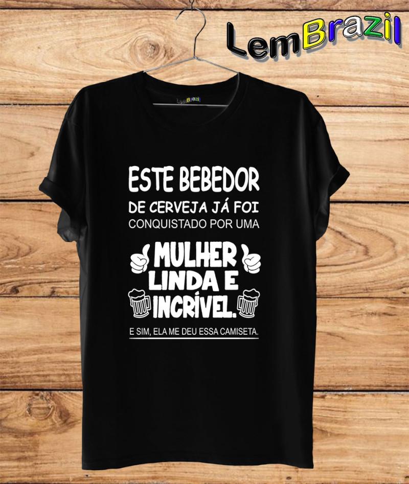 Camiseta Este Bebedor LemBrazil. Camiseta 100% Algodão personalizada com Impressão Digital garantindo maior durabilidade e conforto!