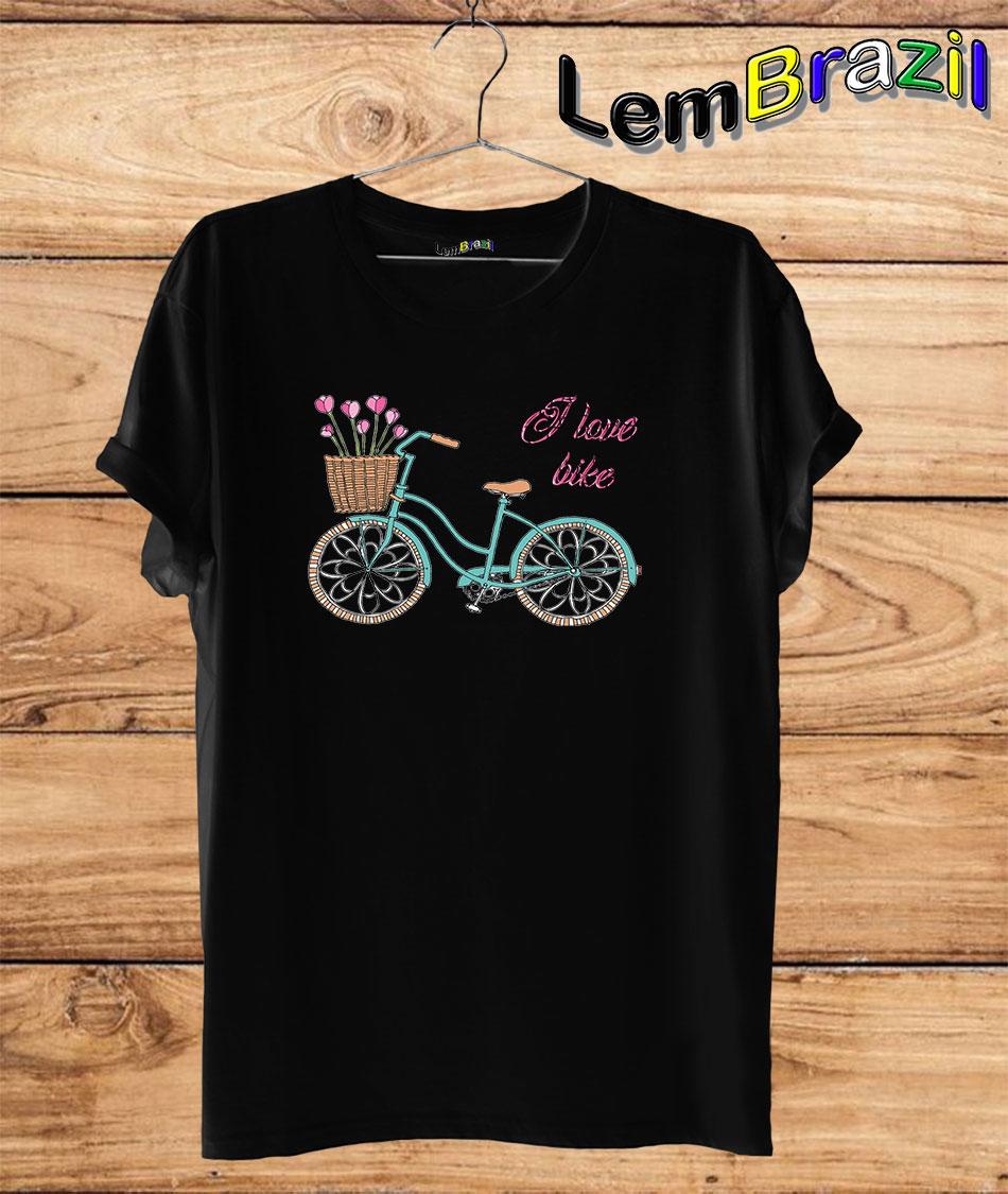 Camiseta I Love Bike LemBrazil. Camiseta 100% Algodão personalizada com Impressão Digital garantindo maior durabilidade e conforto!