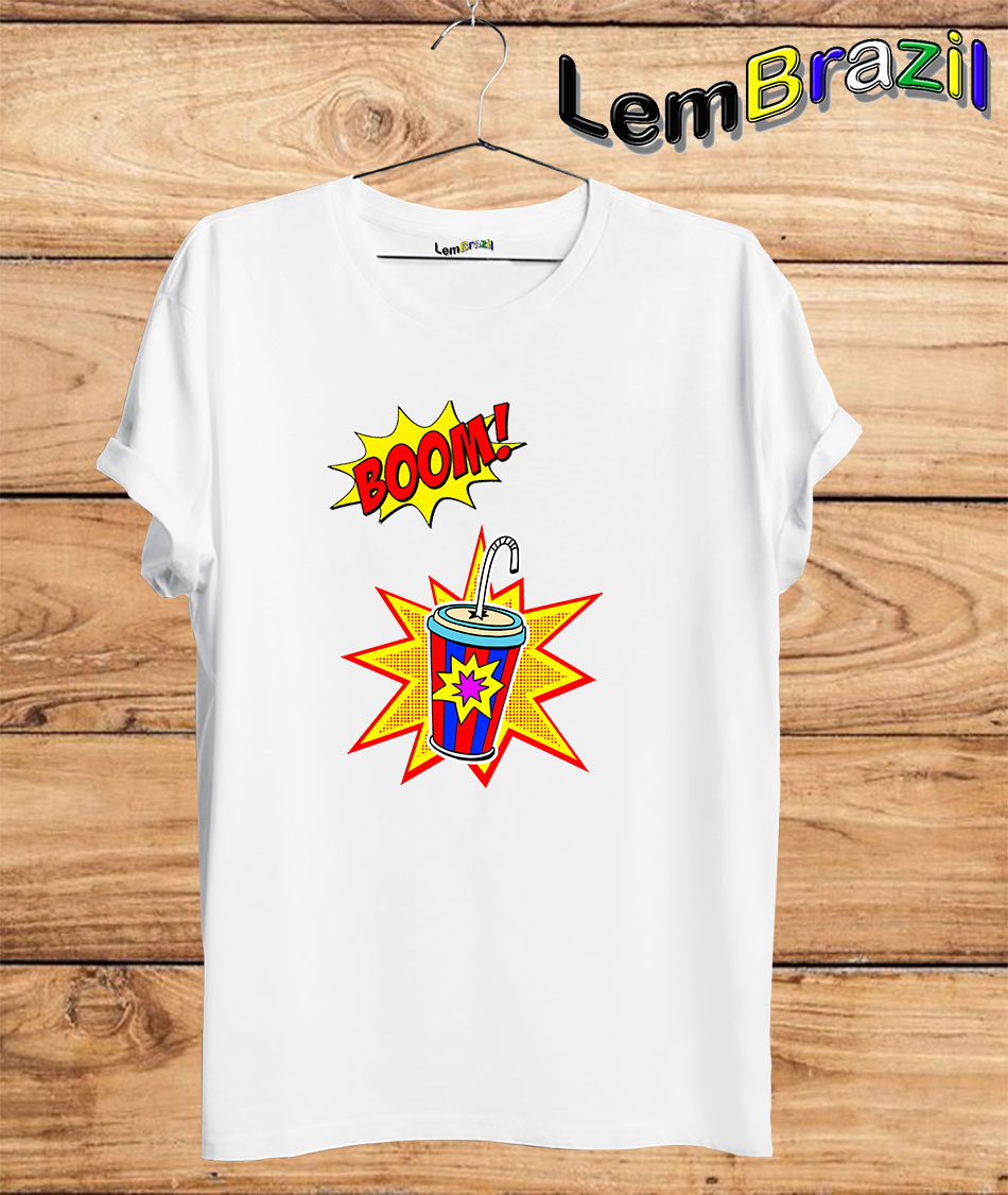 Camiseta Boom LemBrazil. Camiseta 100% Algodão personalizada com Impressão Digital garantindo maior durabilidade e conforto!