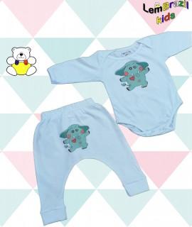 Conjunto Elefante Verde LemBrazil Kids, Modelos exclusivos LemBrazil Kids! Com a mesma qualidade das Camisetas Personalizadas LemBrazil,