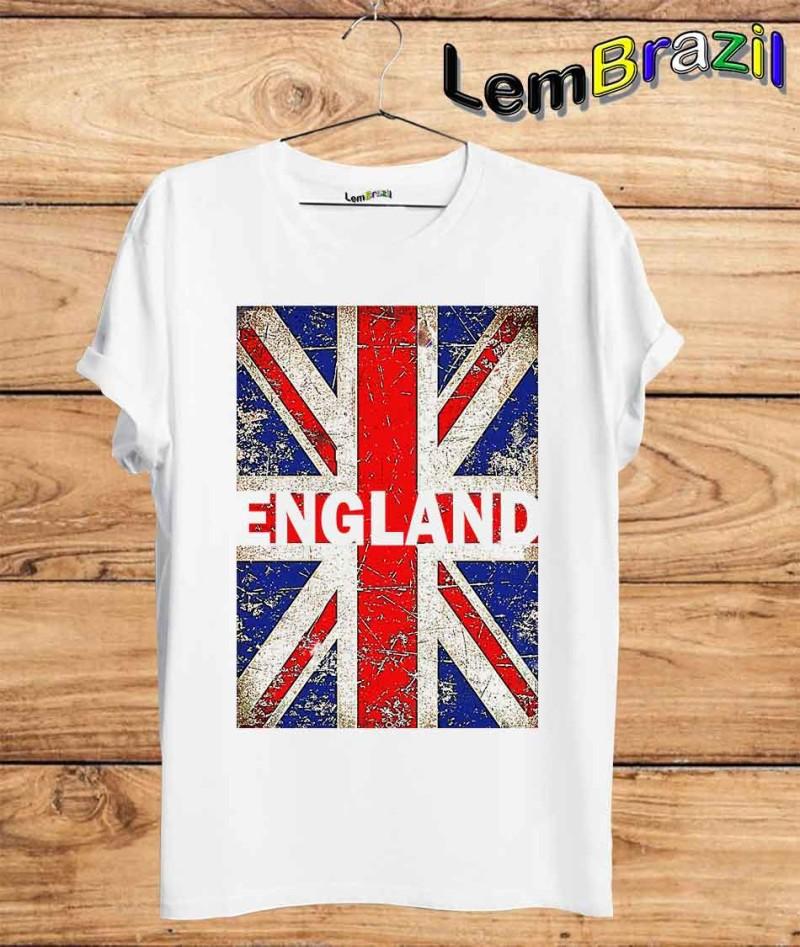 44af33111 Camiseta England LemBrazil. Camiseta 100% Algodão personalizada com  Impressão Digital garantindo maior durabilidade e