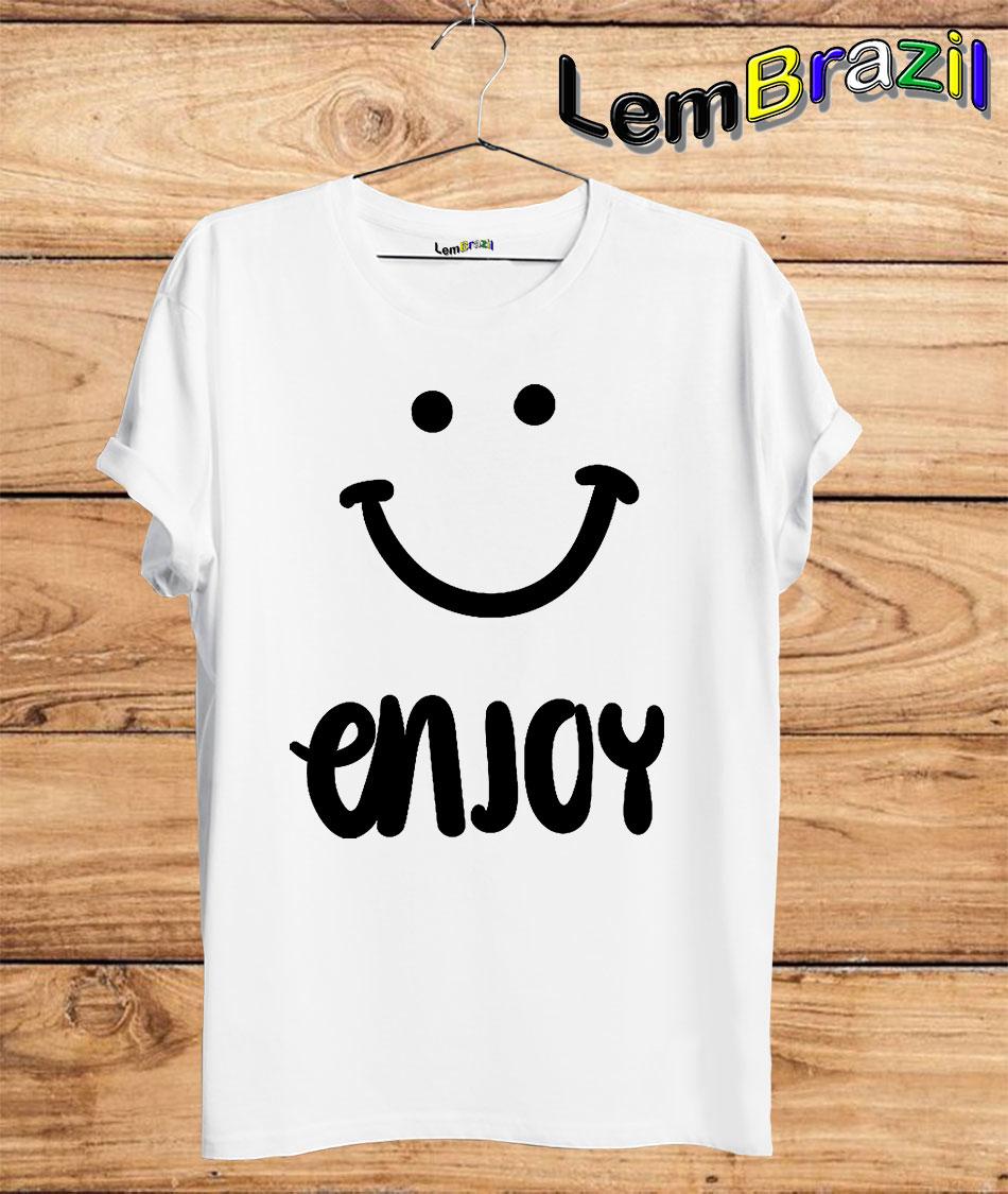 Camiseta Enjoy LemBrazil. Camiseta 100% Algodão personalizada com Plotter de Recorte garantindo maior durabilidade e conforto!
