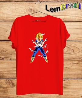 Camiseta Goku LemBrazil. Agora a LemBrazil tem confecção própria! Camiseta 100% Algodão 30/1 fio penteado com reforço ombro a ombro, Camisetas de primeira linha