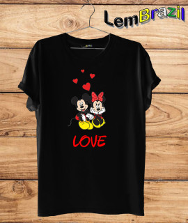 Camiseta Mickey e Minnie LemBrazil