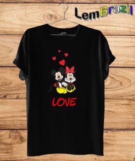 Camiseta Mickey e Minnie LemBrazil