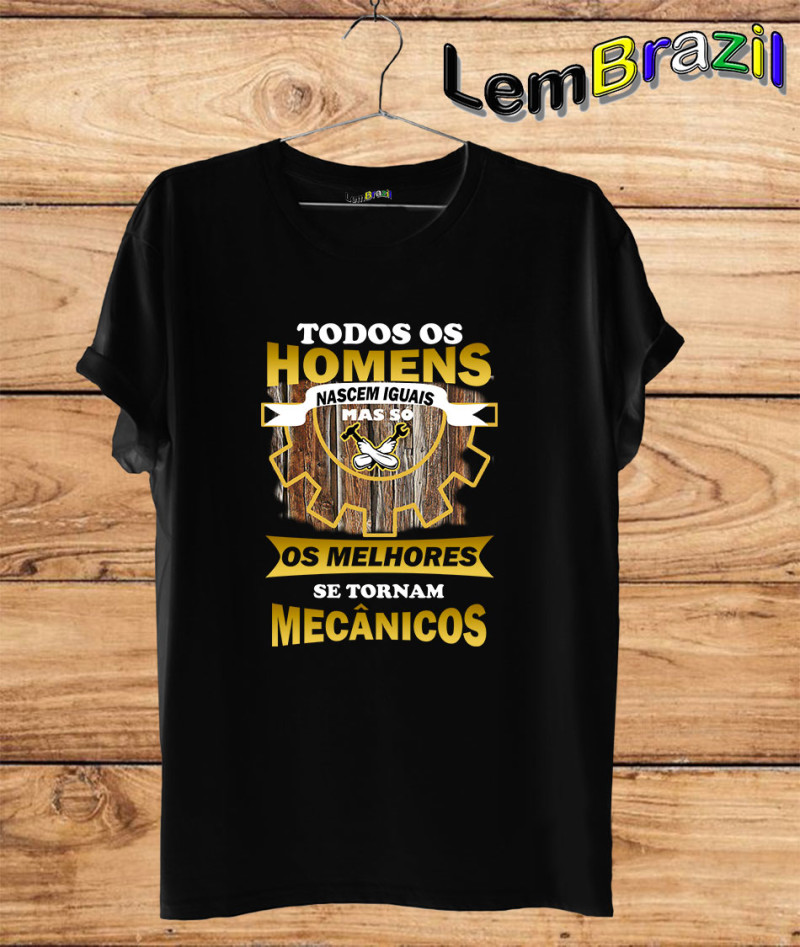 Camiseta Mecânico LemBrazil. Camiseta 100% Algodão nossas camisetas são personalizadas com ESTAMPA DIGITAL garantindo maior durabilidade e conforto!