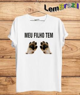 Camiseta Mae de Pet LemBrazil Confecção Própria. Camiseta Premiun 100% Algodão fio 30/1 penteado com reforço ombro a ombro.