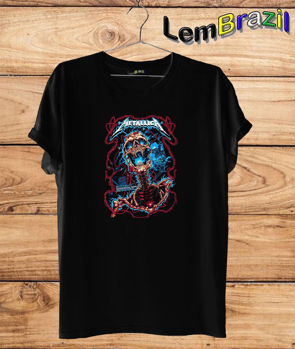 Camiseta LemBrazil Banda Metalica. Confecção Própria. Camiseta Premiun 100% Algodão fio 30/1 penteado com reforço ombro a ombro.