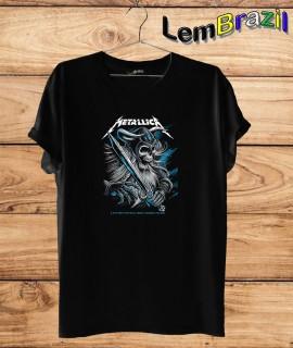 Camiseta LemBrazil Metalica. Confecção Própria. Camiseta Premiun 100% Algodão fio 30/1 penteado com reforço ombro a ombro.