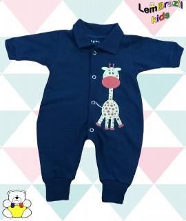 Macacao Girafinha LemBrazil Kids, Modelos exclusivos LemBrazil Kids!  Tecido confortável em meia malha 100% Algodão fio penteado 30.1