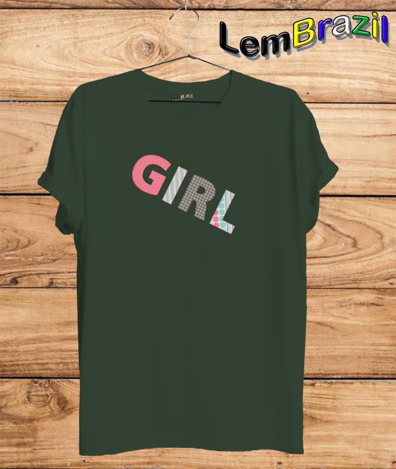 Camiseta Girl LemBrazil. Agora a LemBrazil tem confecção própria! Camiseta 100% Algodão 30/1 fio penteado com reforço ombro a ombro, Camisetas de primeira linha