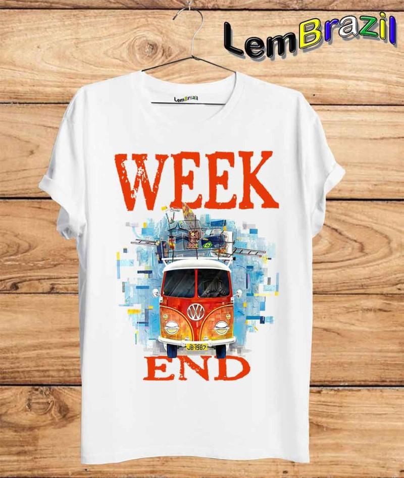 Camiseta Week End 2 LemBrazil. Camiseta 100% Algodão personalizada com Impressão Digital garantindo maior durabilidade e conforto!